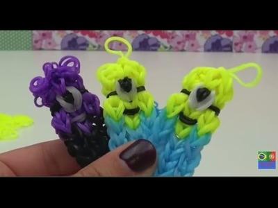 Como fazer minions de elasticos - minions feito de elasticos - pingentes de elasticos minions