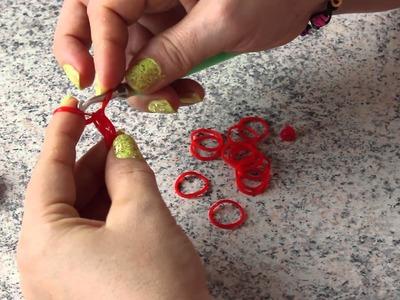 Como Fazer um Pingente de Coração de elasticos sem Tear