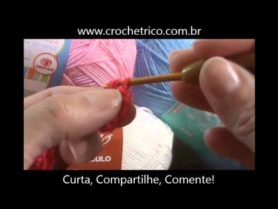 Crochê - Guia de Pontos - Aula 03 - Meio Ponto Alto