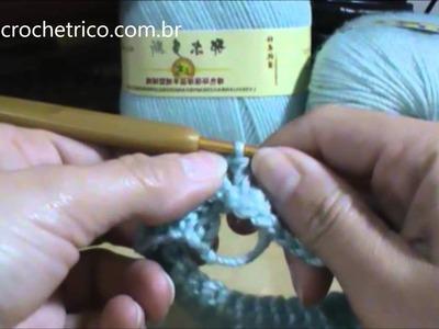 Crochê para Canhotas - Luvas em Ponto Escama - Parte 01.04