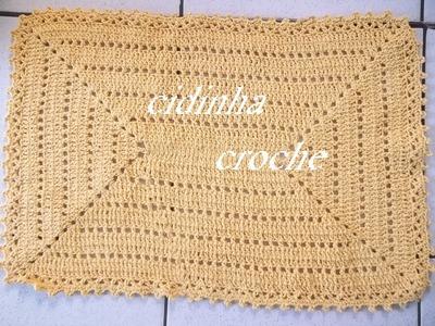 Croche -Tapete Retangular- Passo A Passo - Parte1