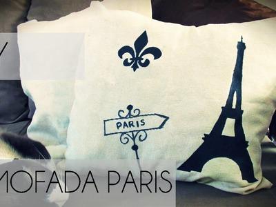★ DIY: Como Fazer uma Almofada Paris ★ (Decoração para o Quarto - Torre Eiffel)
