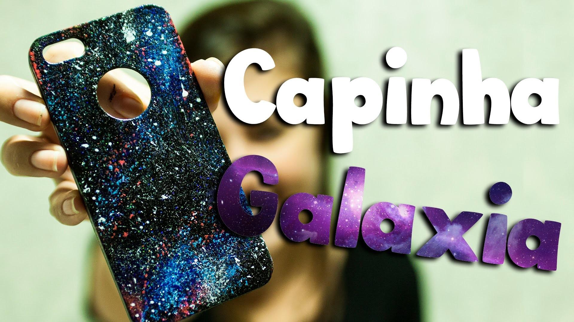 DIY: Como personalizar a capinha do celular com esmalte (efeito galaxia)