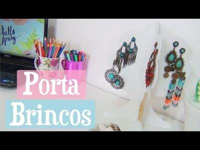 DIY Decoração Quarto - Porta Brincos | Maísa Flora