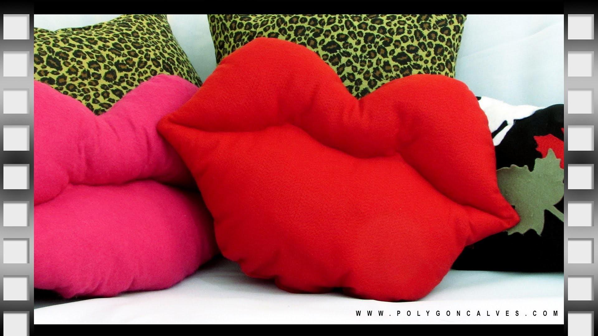 Faça você mesma Almofada boca beijo Dia dos namorados | Poly Gonçalves