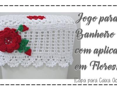 JOGO DE BANHEIRO CAPA PARA CAIXA ACOPLADA
