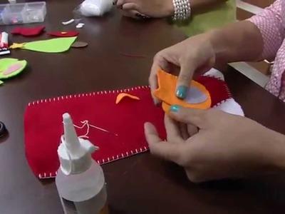 Mulher.com 05.11.2014 - Meia de Natal Corujinhas por Miriam Almiro - Parte 1