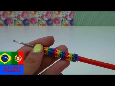 Pegador de lápis fácil Rainbow Loom sem tear Tutorial - loom bands pencil grip