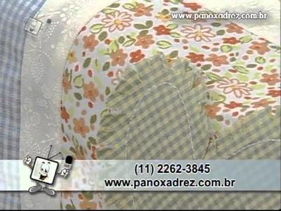 Tia Lili no Ateliê na TV (26.08.11): Painel de corações, com aplicações