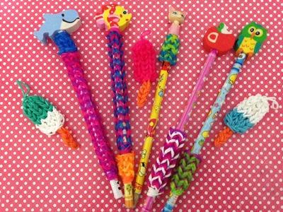 Tutorial: Pegador de lápis super fácil Rainbow Loom com Tear Julia Silva