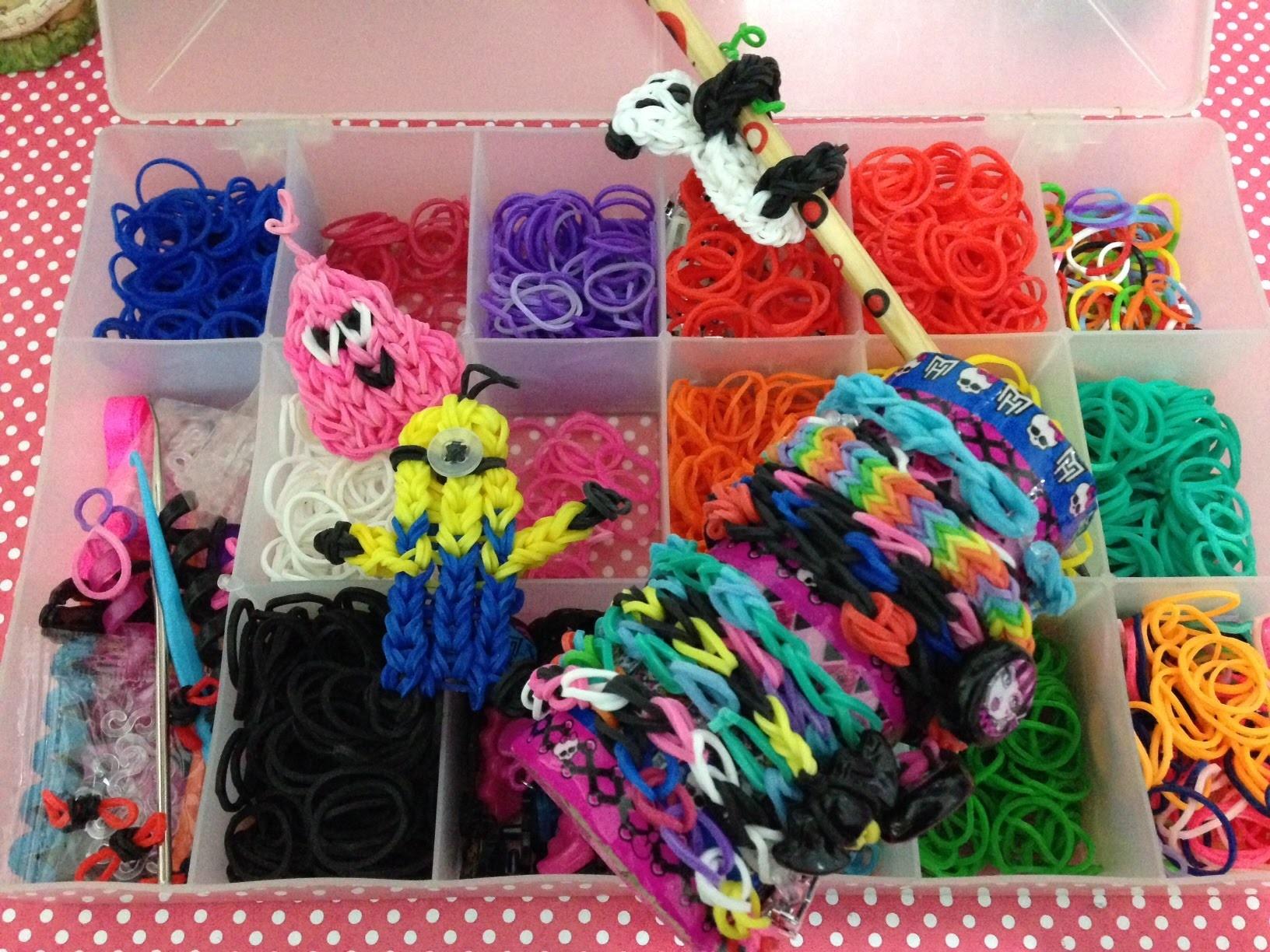 Tutorial Pulseiras de Elásticos Rainbow Loom para iniciantes Julia Silva