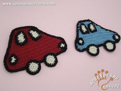 Aplique para Tapete Infantil - Carrinho de Croche - Aprendendo Crochê