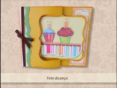 Cartão de aniversário giratório