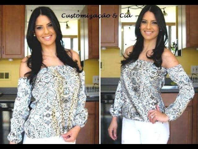 Como fazer blusa estilo cigana by Customização & Cia