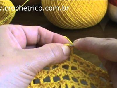 Crochê - Casaquinho (0 à 3 Meses) - Parte 01.02