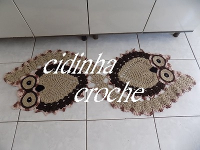 Croche- Passadeira Coruja Em Espiral- Passo  A Passo- Parte 4 - Final