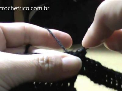 Crochê - Touca Ninja (Touca de Motoqueiro) - Parte 04.06