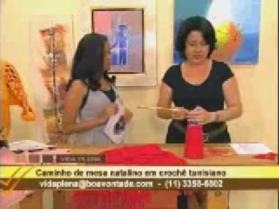 Crochê tunisiano com Mary - caminho de mesa 02