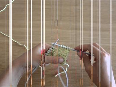 Curso de trico - Querido Tricot: casa de botão simples (buttonhole)