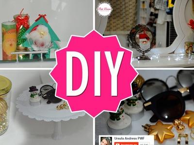 DIY Decorando o quarto.PENTEADEIRA para o natal | Faça Você Mesma