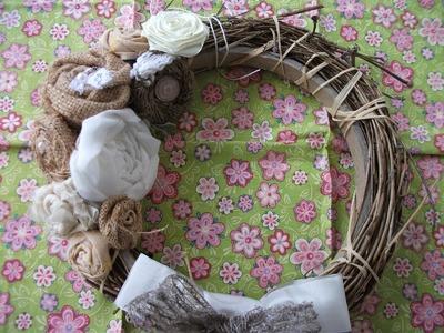 DIY: Faça você mesma uma linda guirlanda rustica para decorar  ♥