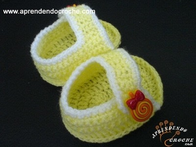 Sandália Bebê em Croche Charmosinha - 1º Parte - Aprendendo Crochê
