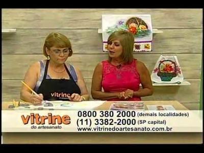 Técnica de pintura em tecido com Beth Matteelli - Vitrine do Artesanato na TV