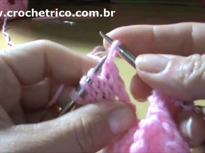 Tricô - Vestidinho Rosa - 3 à 6 Meses - Parte 03.07