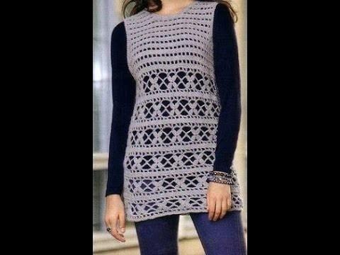 Tünica Fácil de tejer Calada a Crochet