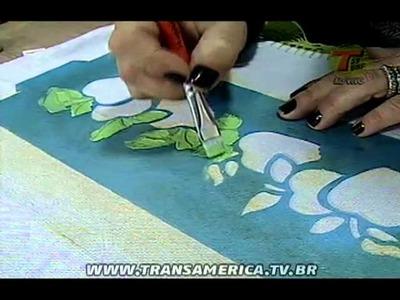Tv Transamérica - Pintura em tecido com stencil