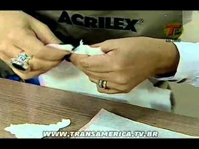 Tv Transamérica - Textura e decoupage em vidro
