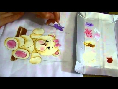 Ursinha Giovana - Parte 2 - Como pintar fraldas - Ariane Cerveira