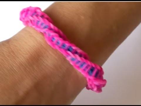 ♥  ♥Como fazer pulseiras de elástico: (Espiral ) Loom Bands (sem tear)