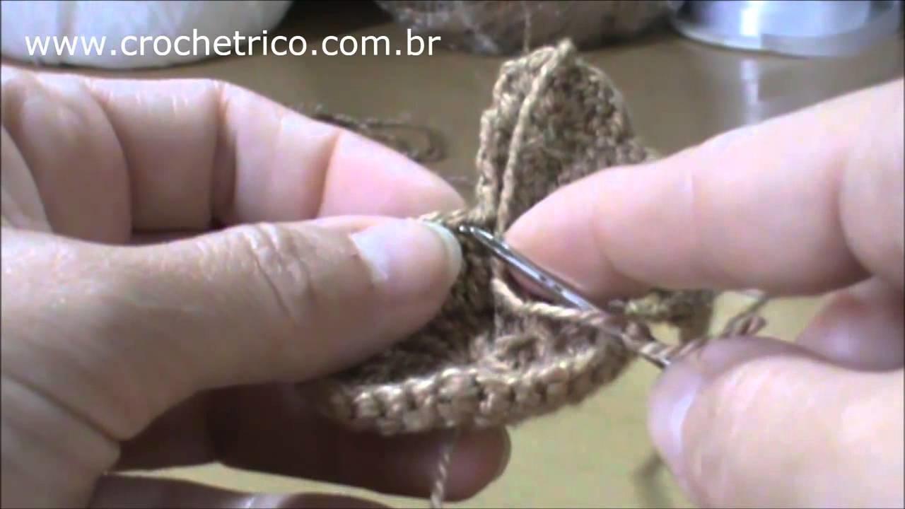 Crochê - Babador Ursinho - Parte 04.05
