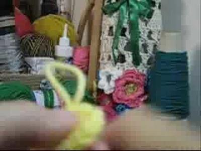 Croche - Cachecol Floral Infantil - Parte 01