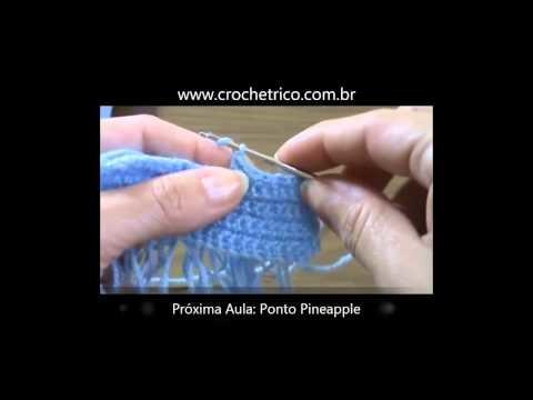 Crochê - Guia de Pontos - Aula 33 - Ponto Argola (ou Bucle)