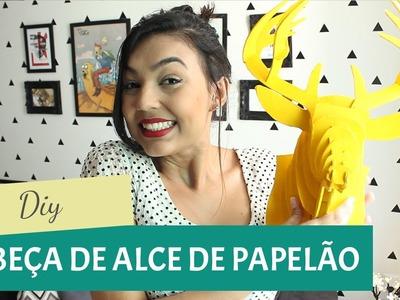 DIY - Cabeça de alce com papel paraná | GavetaMix