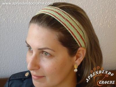 Faixa de Cabelo Croche Differenza - Aprendendo Crochê