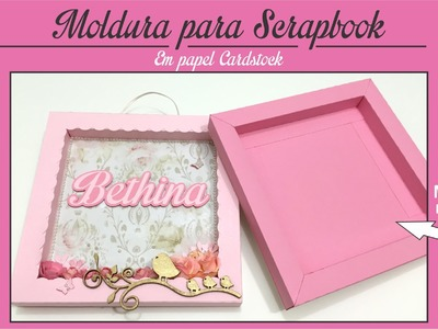 Moldura para Scrapbook - Em papel