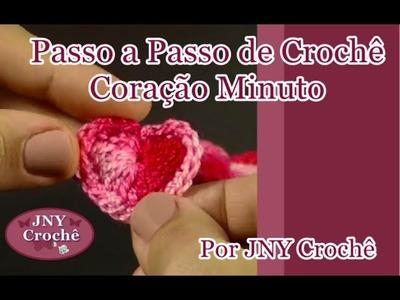 Passo a passo Coração Minuto de crochê por JNY Crochê