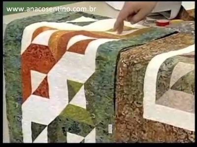 Patchwork Ana Cosentino: Centro de Mesa Batik (Programa Arte Brasil 28.02.2013)