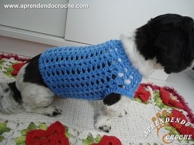 Roupinha de Crochê Cãozinho Fashion
