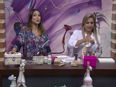 Baú shabby chic Parte1  por Camila Claro  Mulher com 25 02 2015