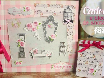 Caderno e bloco de anotações (Rosalina dos Santos)