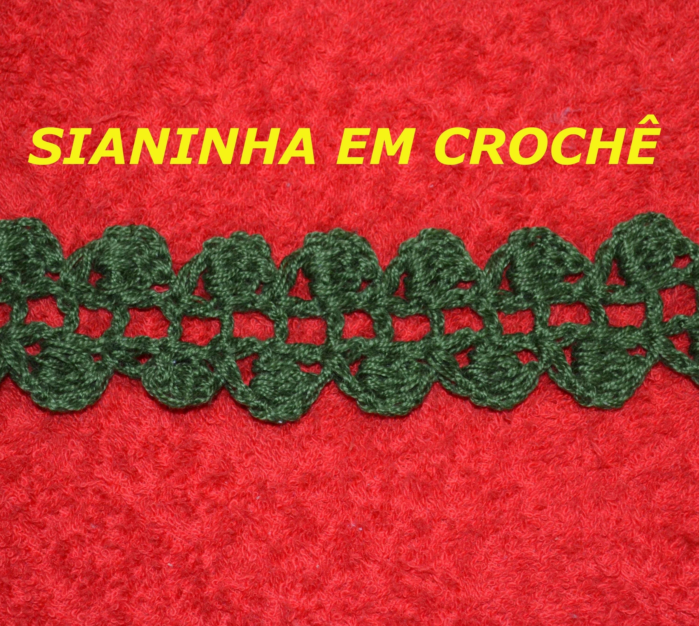 CROCHE PARA CANHOTOS - LEFT HANDED CROCHET - SIANINHA EM CROCHÊ CANHOTAS