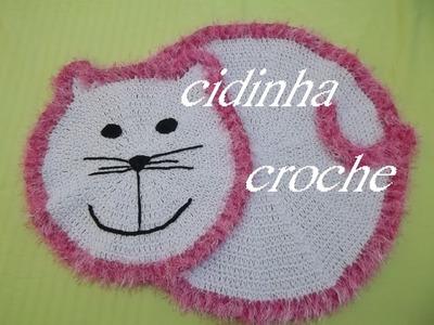 Croche - Tapete Gatinha - Tutorial Completo