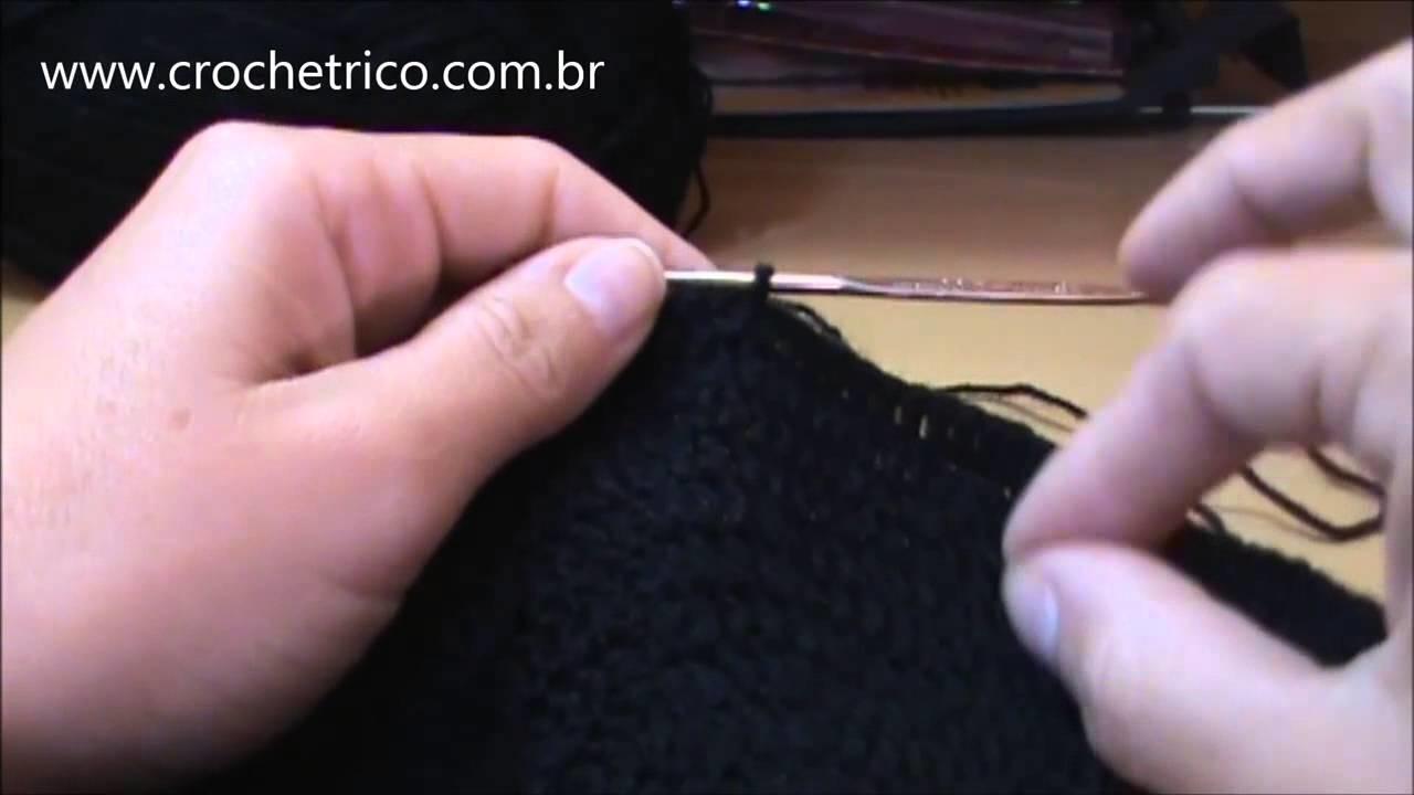 Crochê - Touca Ninja (Touca de Motoqueiro) - Parte 02.06