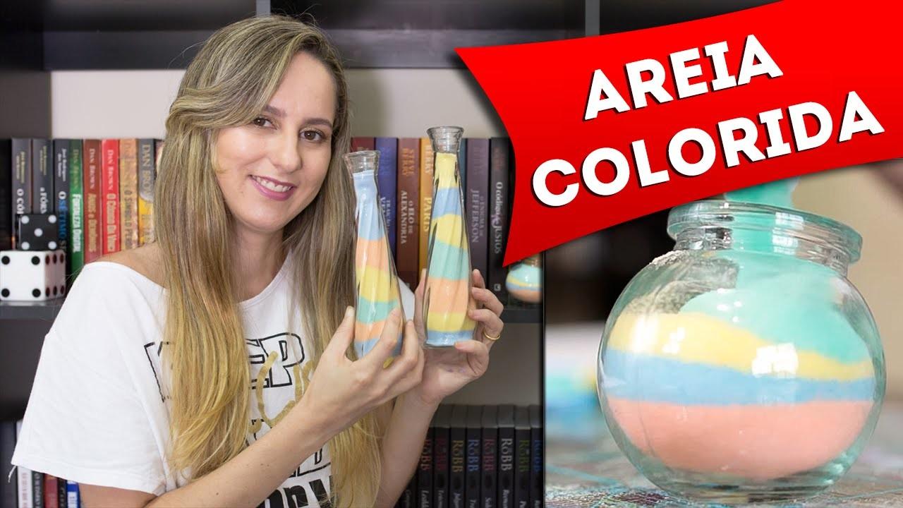 DIY: Como Fazer Areia Colorida para Decorar Potes e Garrafas - Artesanato - Faça Você Mesmo