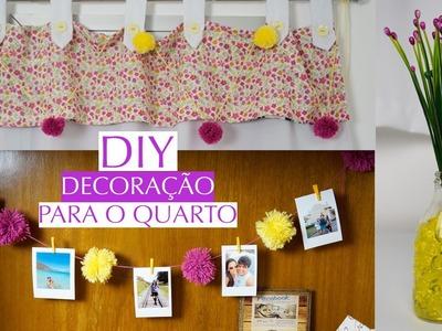 DIY Varal de Fotos, Pom Pom, Vaso de Flores | Decoração Para o Quarto - Por Jéssica Freitas