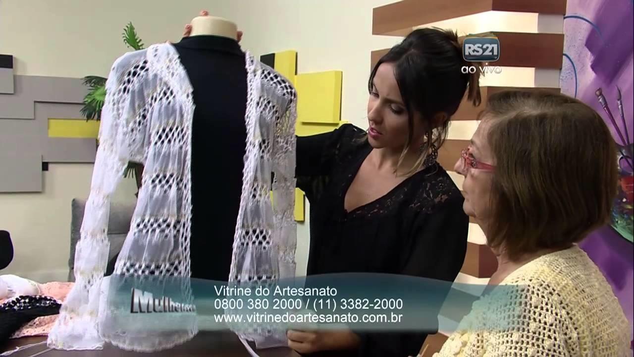Mulher.com 25.03.2014 Cláudia Maria - Cardiga rendado crochê Parte 2.2